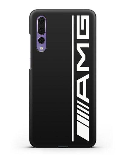 Чехол с логотипом AMG силикон черный для Huawei P20 Pro