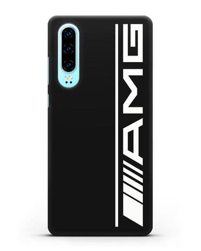 Чехол с логотипом AMG силикон черный для Huawei P30
