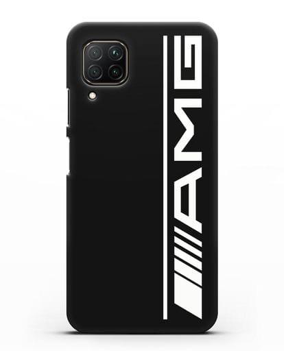 Чехол с логотипом AMG силикон черный для Huawei P40 lite