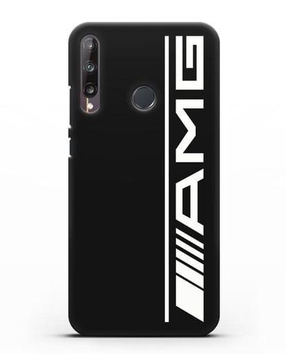 Чехол с логотипом AMG силикон черный для Huawei P40 lite E