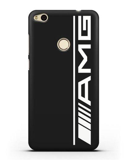 Чехол с логотипом AMG силикон черный для Huawei P8 Lite 2017