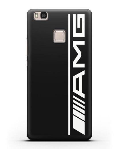 Чехол с логотипом AMG силикон черный для Huawei P9 Lite