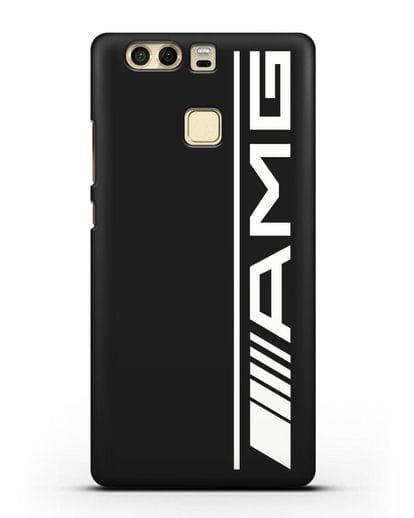 Чехол с логотипом AMG силикон черный для Huawei P9 Plus