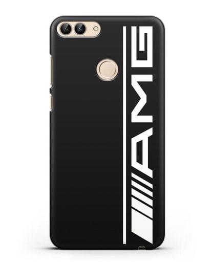 Чехол с логотипом AMG силикон черный для Huawei P Smart