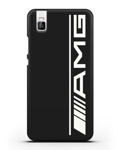 Чехол с логотипом AMG силикон черный для Huawei Shot X
