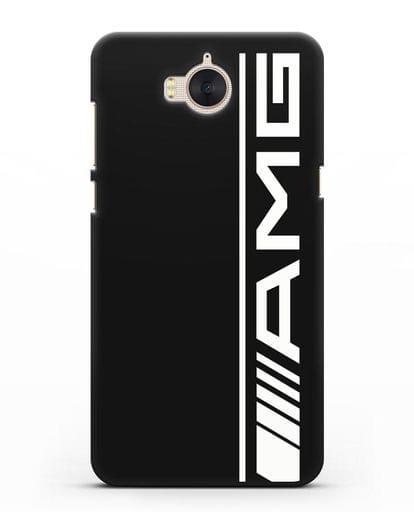 Чехол с логотипом AMG силикон черный для Huawei Y5 2017