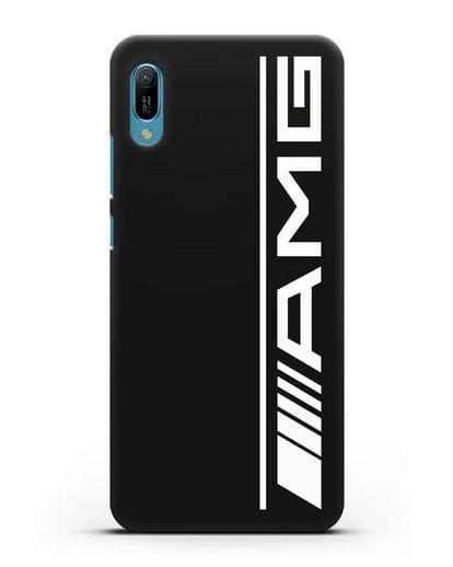 Чехол с логотипом AMG силикон черный для Huawei Y6 2019