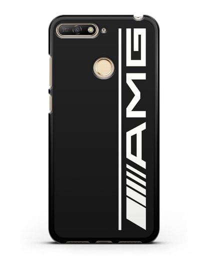 Чехол с логотипом AMG силикон черный для Huawei Y6 Prime 2018