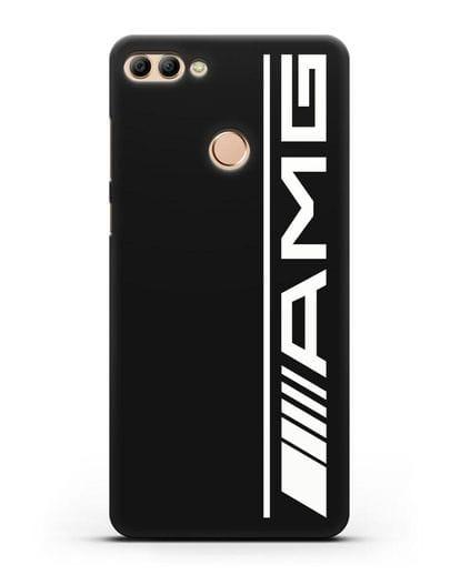 Чехол с логотипом AMG силикон черный для Huawei Y9 2018