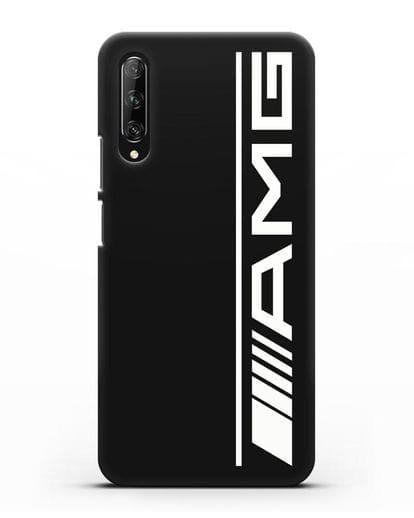Чехол с логотипом AMG силикон черный для Huawei Y9s