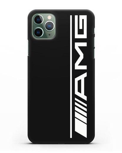 Чехол с логотипом AMG силикон черный для iPhone 11 Pro