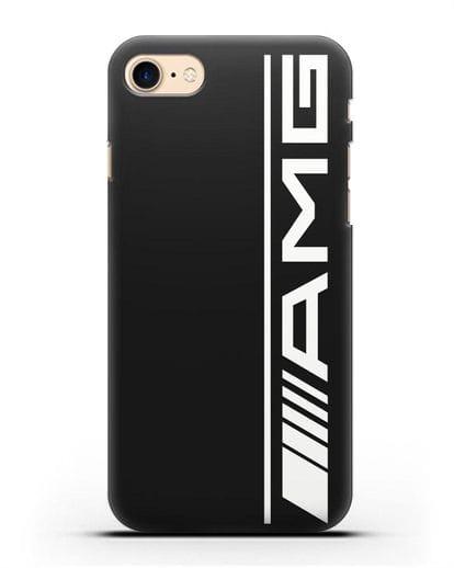 Чехол с логотипом AMG силикон черный для iPhone SE 2020
