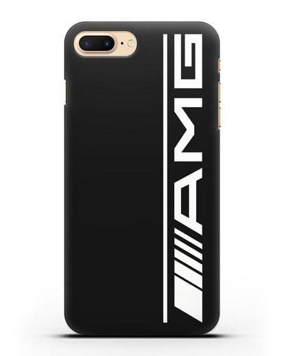 Чехол с логотипом AMG силикон черный для iPhone 8 Plus