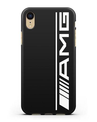 Чехол с логотипом AMG силикон черный для iPhone XR
