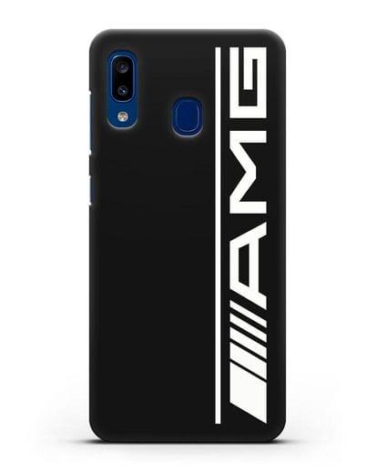 Чехол с логотипом AMG силикон черный для Samsung Galaxy A20 [SM-A205FN]