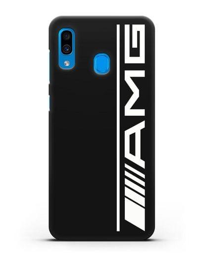 Чехол с логотипом AMG силикон черный для Samsung Galaxy A30 [SM-A305FN]