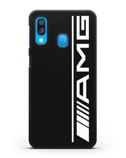 Чехол с логотипом AMG силикон черный для Samsung Galaxy A40 [SM-A405F]