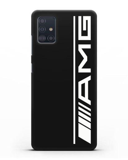 Чехол с логотипом AMG силикон черный для Samsung Galaxy A51 [SM-A515F]