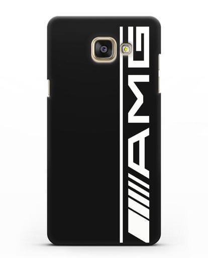 Чехол с логотипом AMG силикон черный для Samsung Galaxy A7 2016 [SM-A710F]