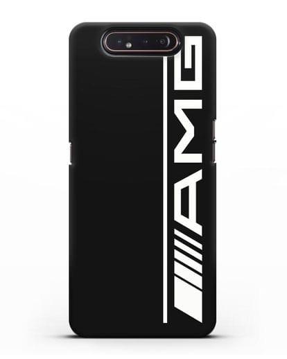 Чехол с логотипом AMG силикон черный для Samsung Galaxy A80 [SM-A805F]