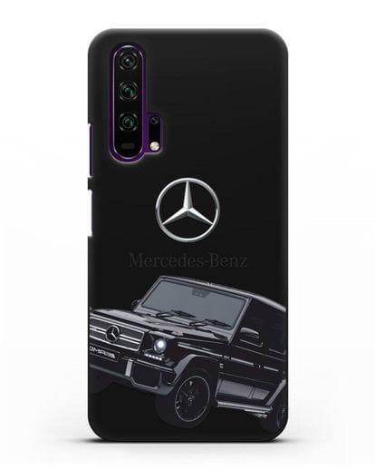Чехол с картинкой Мерседес Гелендваген силикон черный для Honor 20 Pro