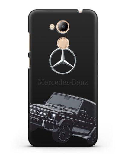 Чехол с картинкой Мерседес Гелендваген силикон черный для Honor 6C Pro
