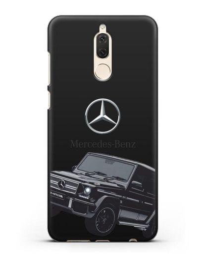 Чехол с картинкой Мерседес Гелендваген силикон черный для Huawei Mate 10 Lite