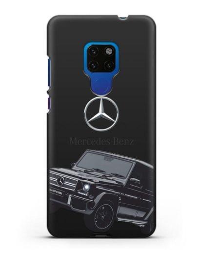 Чехол с картинкой Мерседес Гелендваген силикон черный для Huawei Mate 20