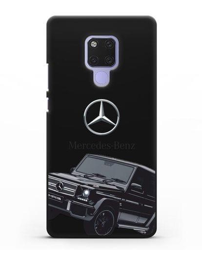 Чехол с картинкой Мерседес Гелендваген силикон черный для Huawei Mate 20X