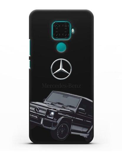 Чехол с картинкой Мерседес Гелендваген силикон черный для Huawei Mate 30 Lite