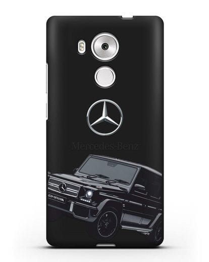 Чехол с картинкой Мерседес Гелендваген силикон черный для Huawei Mate 8