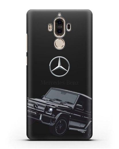 Чехол с картинкой Мерседес Гелендваген силикон черный для Huawei Mate 9