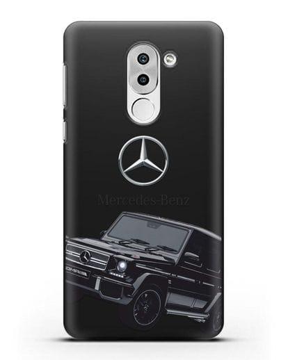 Чехол с картинкой Мерседес Гелендваген силикон черный для Huawei Mate 9 Lite