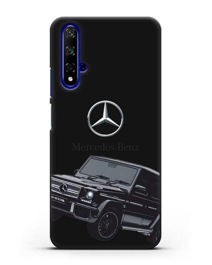Чехол с картинкой Мерседес Гелендваген силикон черный для Huawei Nova 5T