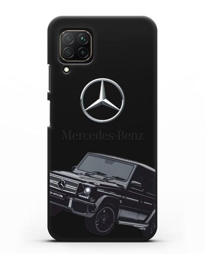 Чехол с картинкой Мерседес Гелендваген силикон черный для Huawei Nova 7i