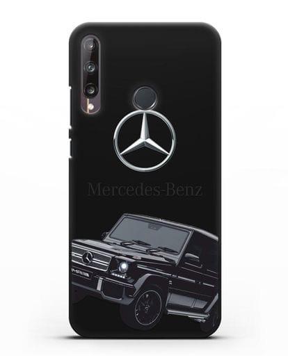 Чехол с картинкой Мерседес Гелендваген силикон черный для Huawei P40 lite E