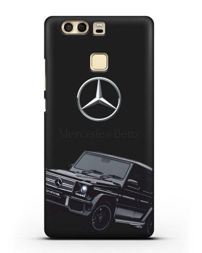 Чехол с картинкой Мерседес Гелендваген силикон черный для Huawei P9 Plus