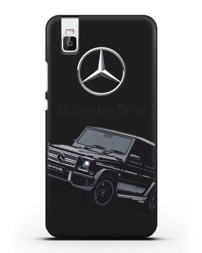 Чехол с картинкой Мерседес Гелендваген силикон черный для Huawei Shot X