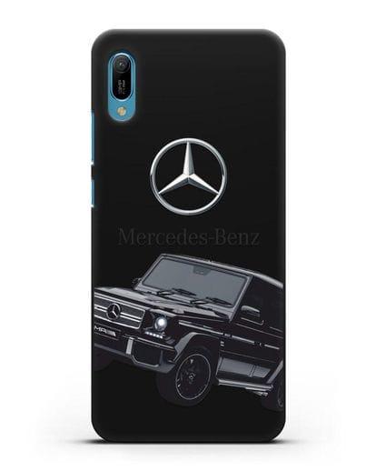 Чехол с картинкой Мерседес Гелендваген силикон черный для Huawei Y6 2019