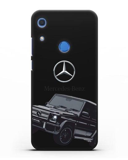 Чехол с картинкой Мерседес Гелендваген силикон черный для Huawei Y6s