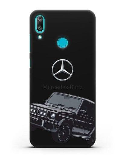 Чехол с картинкой Мерседес Гелендваген силикон черный для Huawei Y7 2019