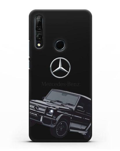 Чехол с картинкой Мерседес Гелендваген силикон черный для Huawei Y9 Prime 2019
