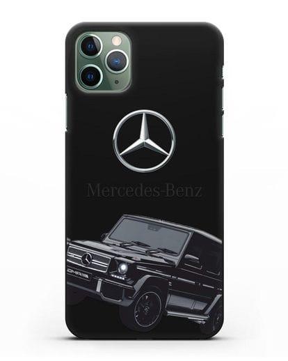 Чехол с картинкой Мерседес Гелендваген силикон черный для iPhone 11 Pro