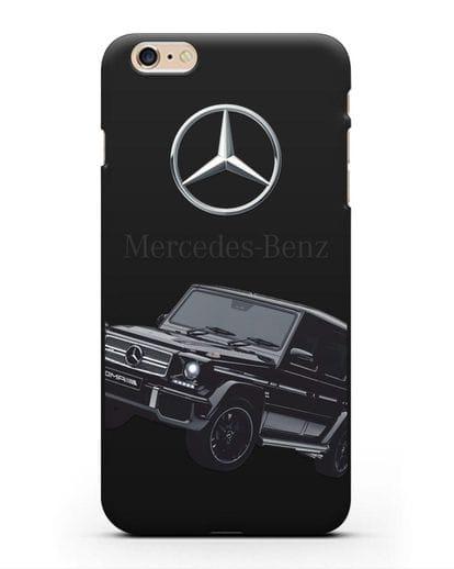 Чехол с картинкой Мерседес Гелендваген силикон черный для iPhone 6s Plus
