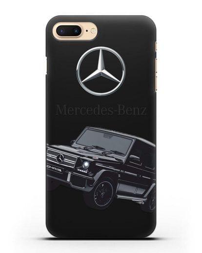 Чехол с картинкой Мерседес Гелендваген силикон черный для iPhone 8 Plus