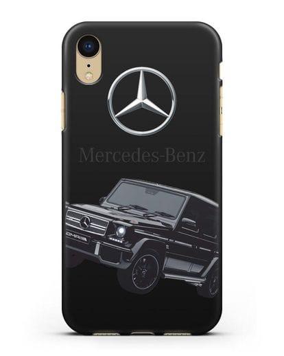 Чехол с картинкой Мерседес Гелендваген силикон черный для iPhone XR