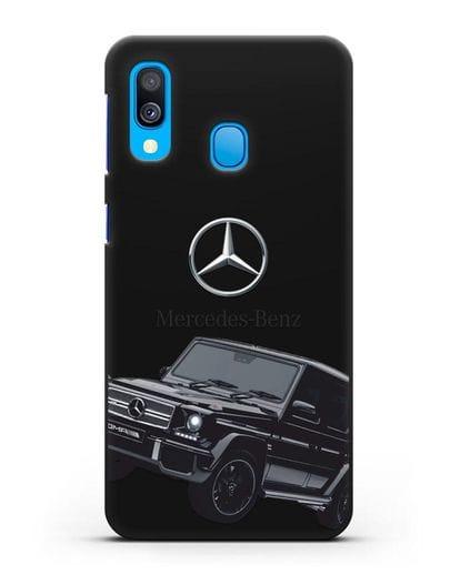 Чехол с картинкой Мерседес Гелендваген силикон черный для Samsung Galaxy A40 [SM-A405F]