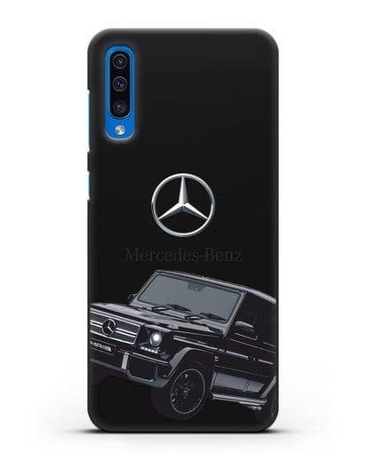 Чехол с картинкой Мерседес Гелендваген силикон черный для Samsung Galaxy A50 [SM-A505F]