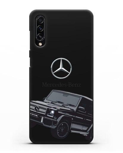 Чехол с картинкой Мерседес Гелендваген силикон черный для Samsung Galaxy A70s [SM-A707F]
