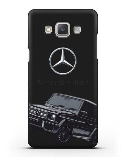 Чехол с картинкой Мерседес Гелендваген силикон черный для Samsung Galaxy A7 2015 [SM-A700F]